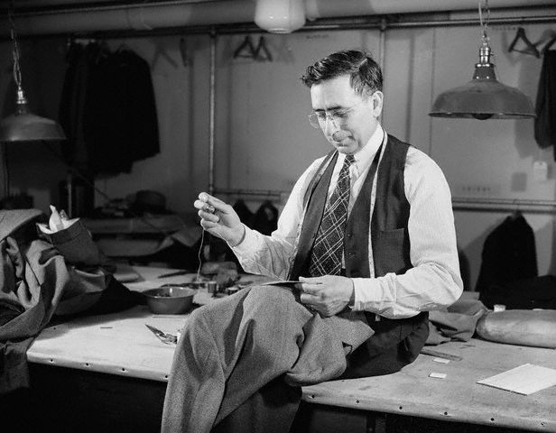 Tailor Sewing a Jacket