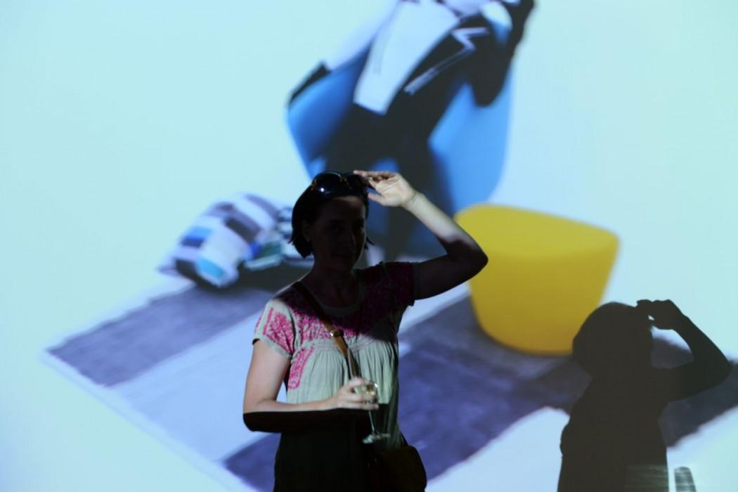 Projektionen vor Publikum
