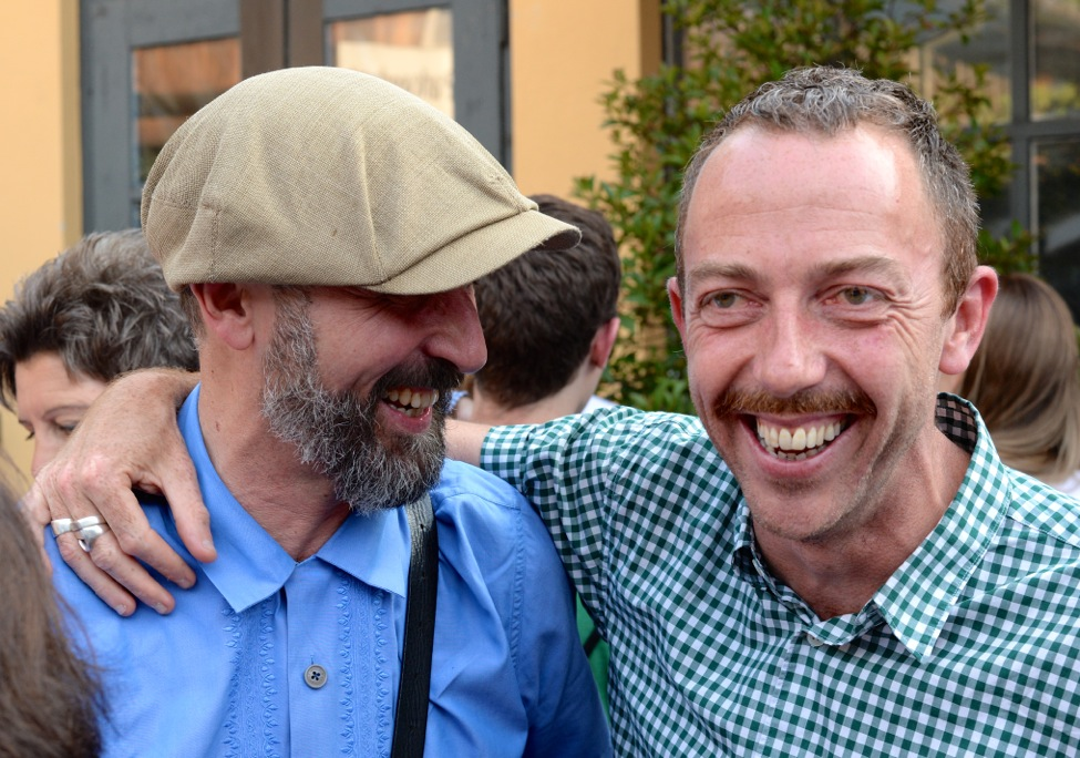 Textildesigner Christoph Hefti (rechts)