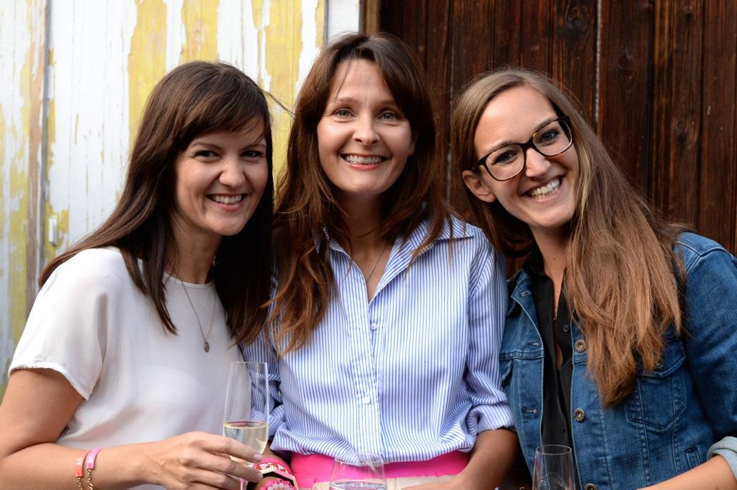 TV-Stylistin Tatjana Kotoric, Nina van Rooijen und Lea Montini von Mooris