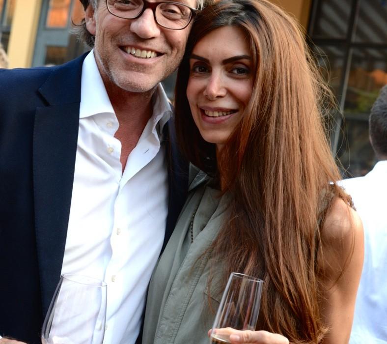 Galerist Christoph Guye mit Leila Mohaghegh