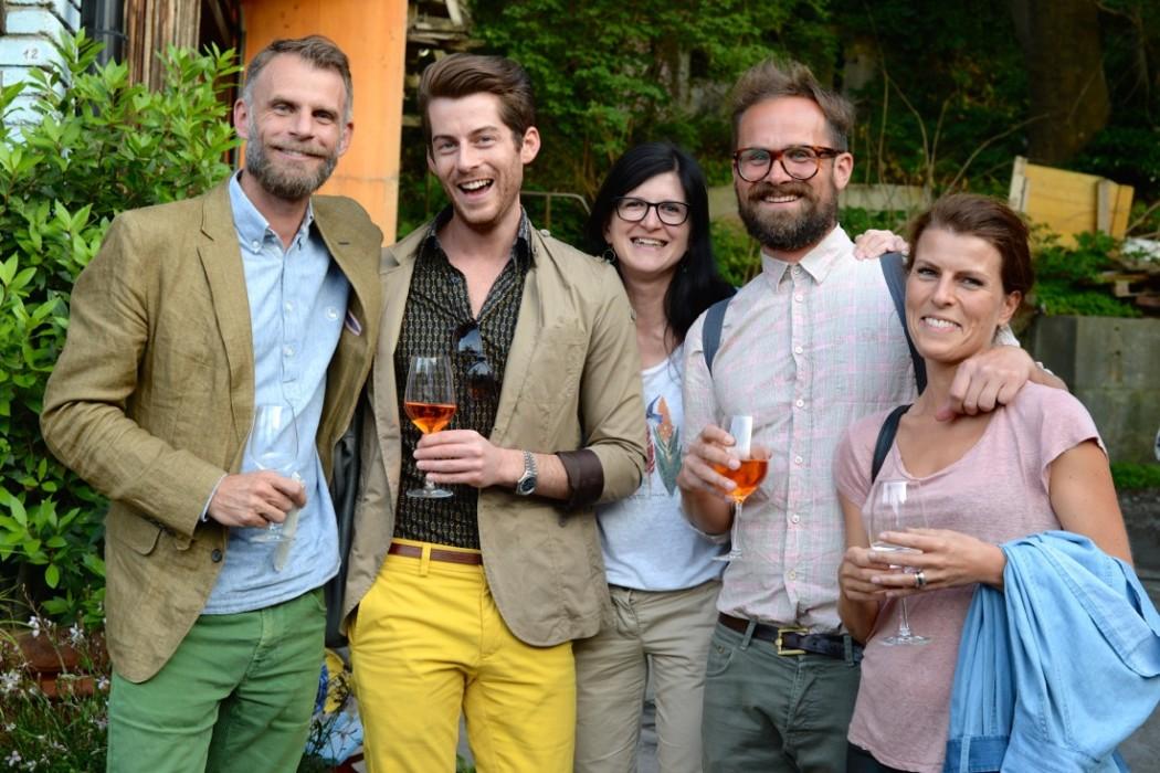 Designer Andrin Schweizer (links) mit Team