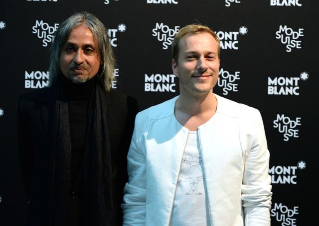 Zaim Kamal, Montblanc Creative Director und Yannick Aellen von der Mode Suisse