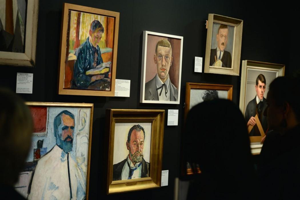 Porträtgalerie mit Schlipsen