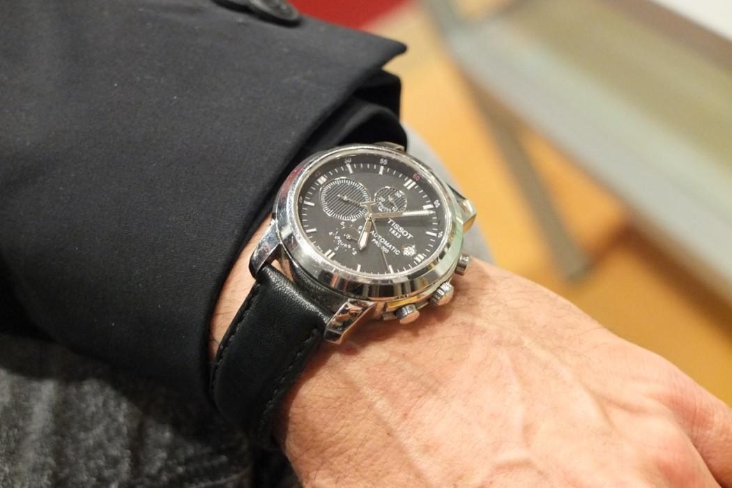 Die Uhr des Transmannes, eine Tissot.
