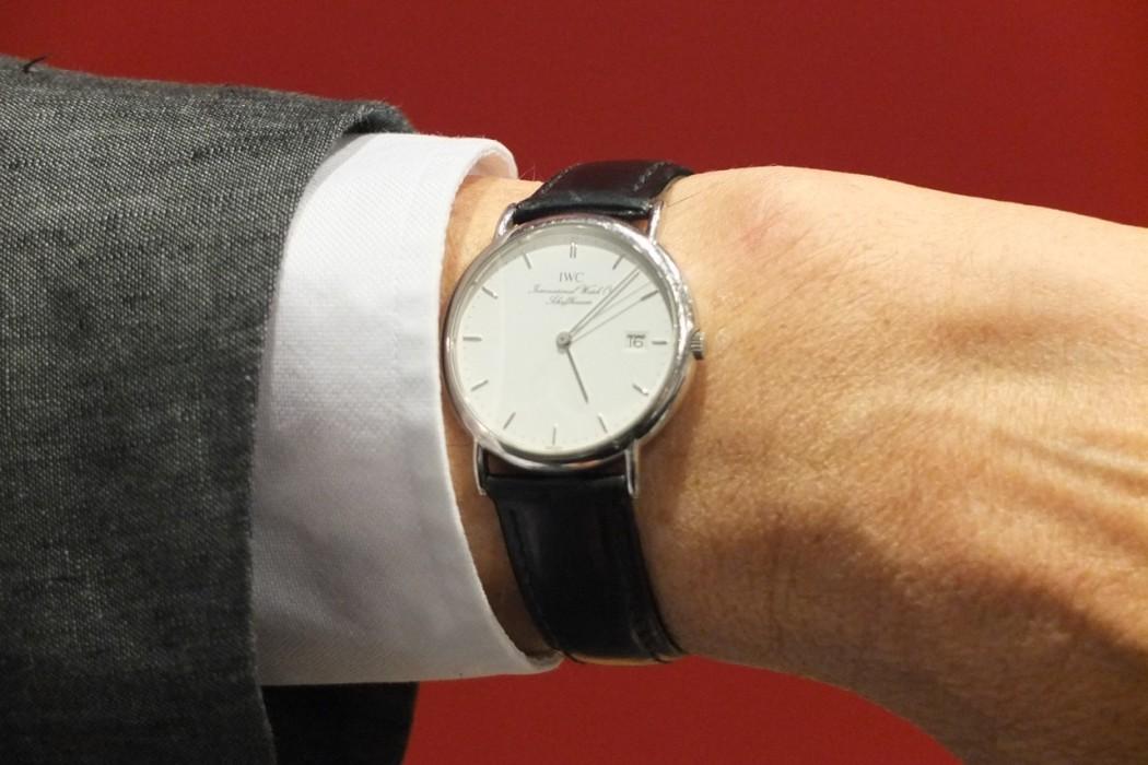 Die Uhr des Psychoanalytikers, eine alte IWC