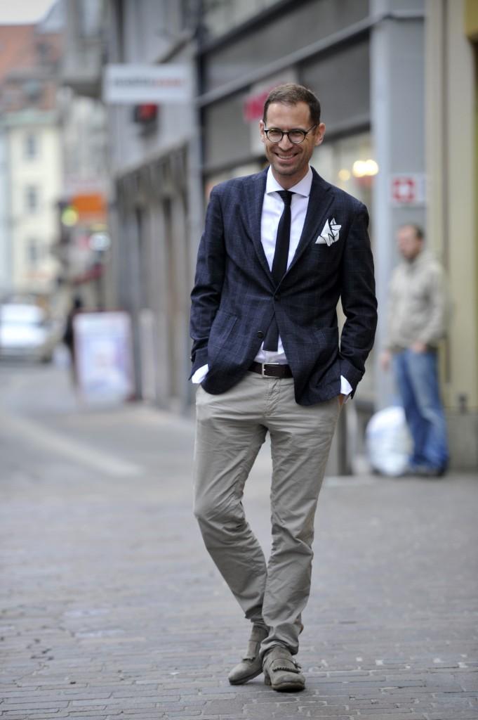 St. Gallen - Mode mit Modefrachmann Jeroen  van Rooijen in der St. Galler Innenstadt