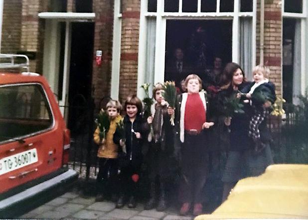 Sechs Kinder am Ziel – der Schreibende als Zweiter von links, etwa 1978.