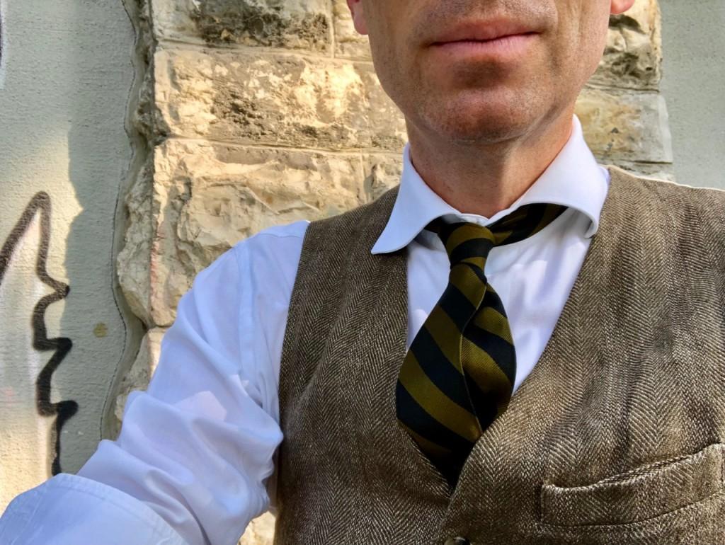 Vintage-Krawatte aus den 1950er Jahren von Tommy Page Club Clothiers, Amsterdam.