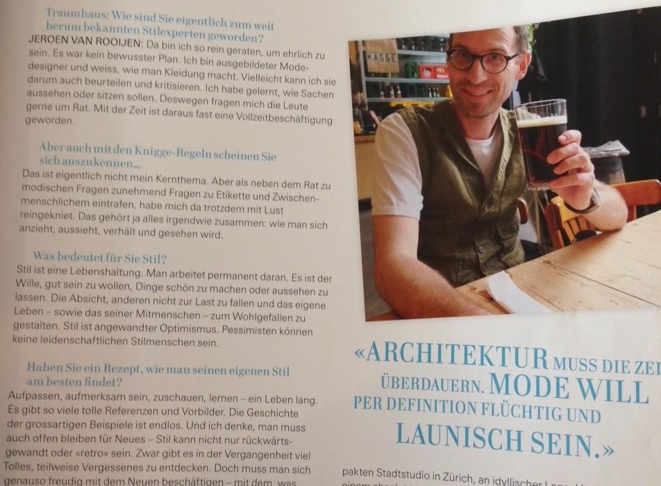 Wohnmagazin vom Oktober 2013 - Interview Jeroen van Rooijen