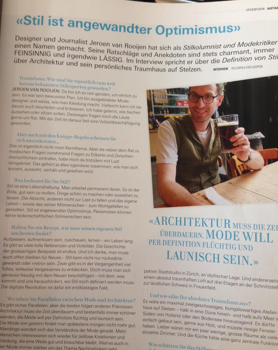 Ideales Heim Juli 2014 Wohnmagazin vom Oktober 2013 - Interview Jeroen van  Rooijen efe3472ccc